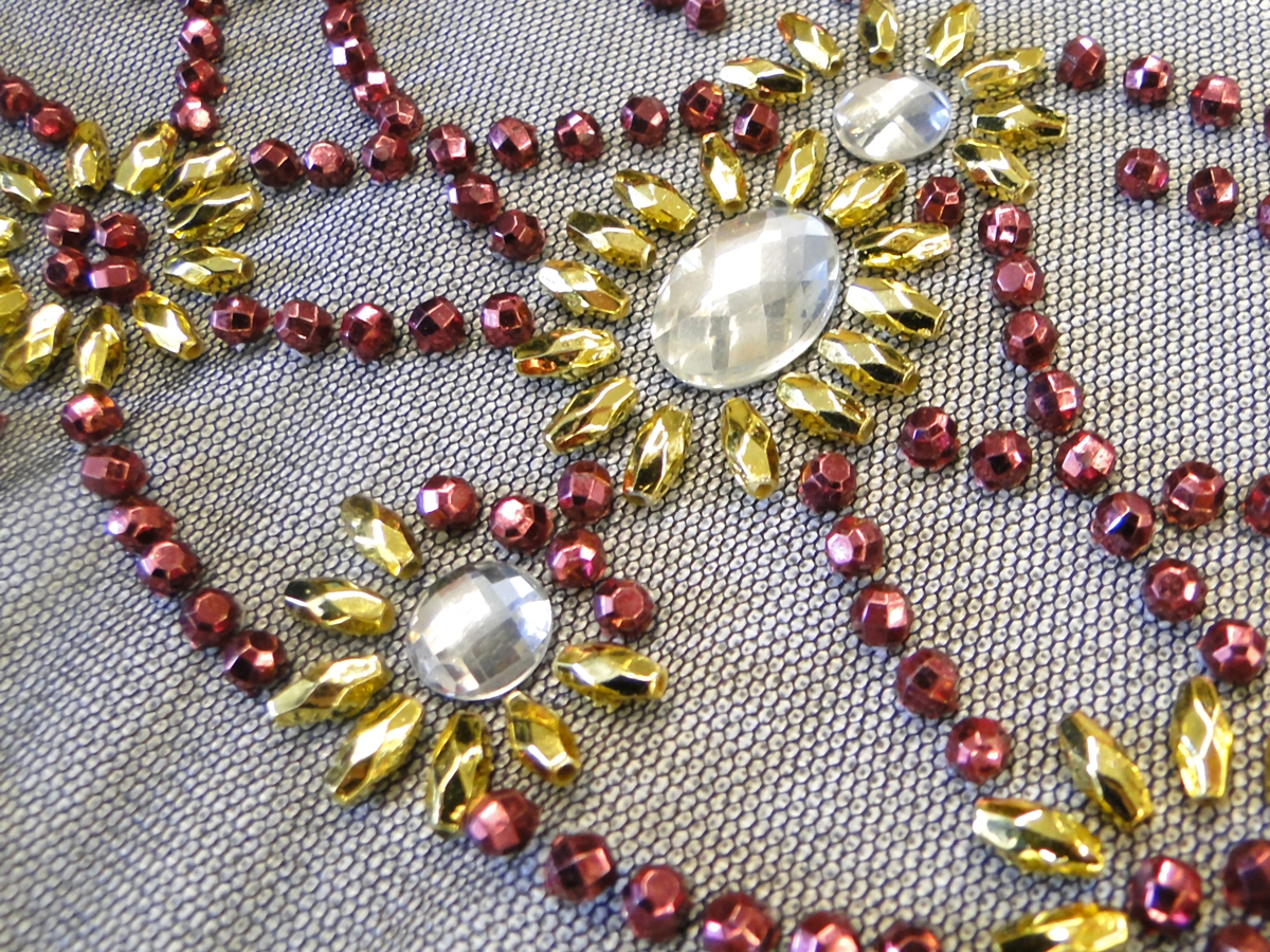 Faceted Metallic Beads Crystal Epoxy Yoke